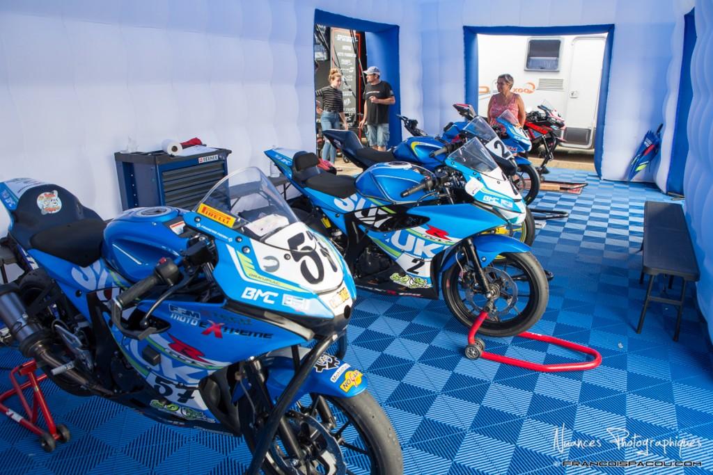 Hospiltality Suzuki BMC au Circuit d'Alès Promosport Août 2018