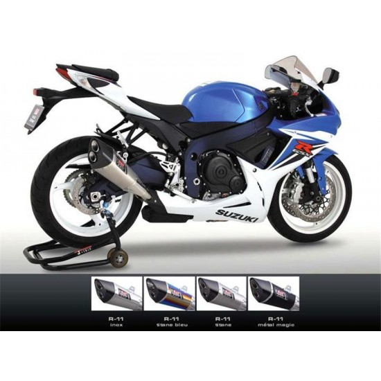 silencieux homologu yoshimura r11 suzuki gsx r 600 750 titane inox metal magic yoshimura. Black Bedroom Furniture Sets. Home Design Ideas