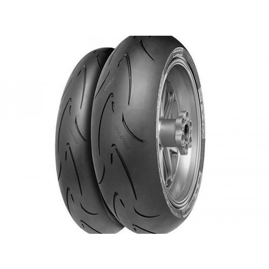 Pneu CONTINENTAL RACING ContiRaceAttack Comp. End 180/60 ZR 17 M/C 75W TL