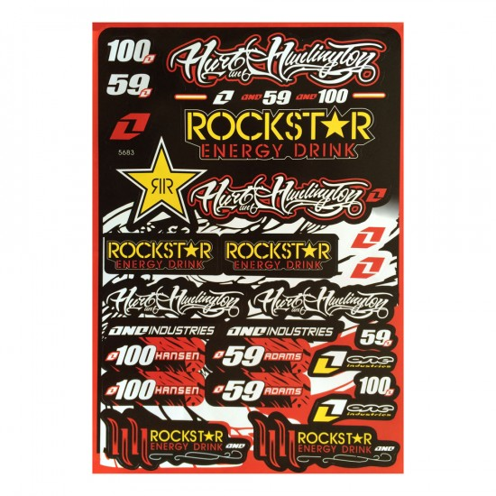 planche d 39 autocollants stickers moto rockstar energy drink format a3 motostand. Black Bedroom Furniture Sets. Home Design Ideas