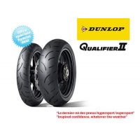 Pack De 2 Pneus Hypersport Dunlop Qualifier Ii (120/70Zr17 Et 190/50Zr17)