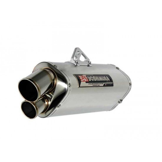 Pot d'échappement Silencieux moto Yoshimura Tri-Oval et Tri-Oval 2 (Finition Inox, Titane ou Metal Magic)