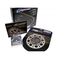 Kit Chaine Renthal 13/51 Pas 520 - Couronne Annti-Boue Anodisée Argent Yamaha Yz-F250