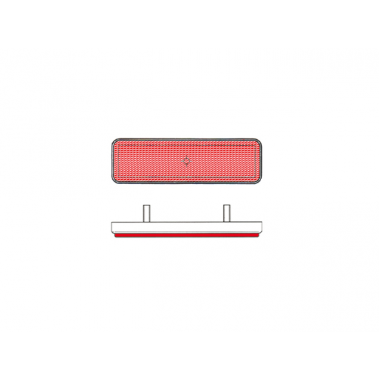 Catadioptre V Parts Rectangulaire 91X25mm Rouge