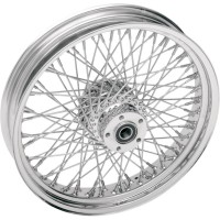 FRONT WHEEL SINGLE-DISC SPOKE CHROME - Dimension au choix