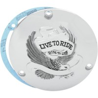 LIVE TO RIDE DERBY COVER - Chrome ou Or