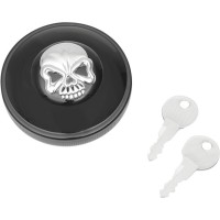 SCREW-IN LOCKING SKULL VENTED GAS CAPS - Couleur au choix