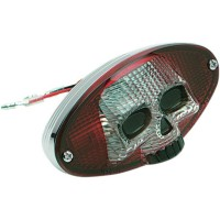 TAILLIGHT CAT EYE SKULL - 12-0403RCR-BC3