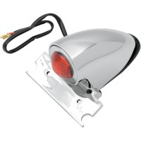 TAILLIGHT CHOPPER CHROME WITH LICENSE PLATE MOUNT - 20-6525CE