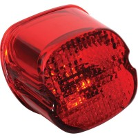 TAILLIGHT LENS LAYDOWN RED W/ BOTTOM TAG WINDOW - 12-0402D