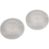 TURN SIGNAL LENSES FLAT-STYLE CLEAR - 12-0203-CL2D