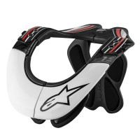 BNS PRO NECK SUPPORT BLACK/WHITE/RED L/XL - 6500114-123-LXL