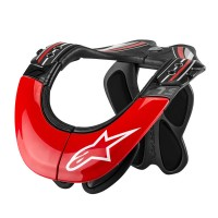 BNS TECH CARBON NECK SUPPORT ANTHRACITE/RED/WHITE XS-M - 6500014-1430-XSM