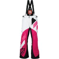 COMP S7 WOMEN INSULATED BIBS WHITE/PINK X-SMALL - 3131-0460