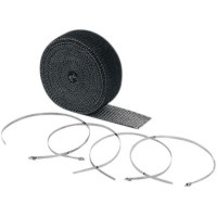 EXHAUST WRAP KIT BLACK 2x25' - 2002BK