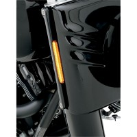LIGHT TURN SIGNAL FORK MOUNTED LED FRONT BLACK - FDH-2