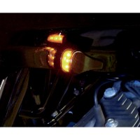 LIGHT TURN SIGNAL SMOOTH LED FRONT BLACK - RGFS1-2