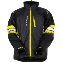 MECH S7 INSULATED JACKET BLACK/HI-VIS YELLOW 2X-LARGE - 3120-1565