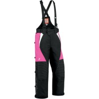 YOUTH BIBS INSULATED COMP 7 DURABLE NYLON CHASSIS WITH WATERPROOF COATING BLACK PINK 12 - 3132-0171