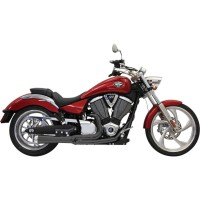 BASSANI EXHAUST ROAD RAGE 2-INTO-1 BLACK - 6V21JB