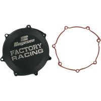CLUTCH COVER FACTORY RACING ALUMINUM REPLACEMENT BLACK - CC-38AB