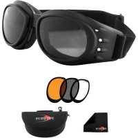 CRUISER II ADVENTURE GOGGLES BLACK LENSES INTERCHANGEABLE - BCA2031AC
