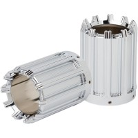 EXHAUST TIP COVERS 10-GAUGE CHROME - I-1107