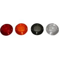 REPLACEMENT TURN SIGNAL LENS HD FLAT- STYLE AMBER - HDSMOOTHAMBER