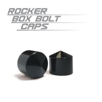 ROCKER BOX BOLT CAPS BLACK - 70008