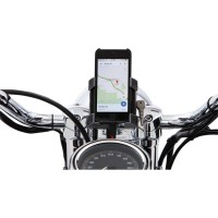 SMARTPHONE/GPS HOLDER PREMIUM WITH BAR MOUNT CHROME - 50212