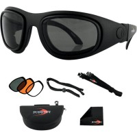 SPORT & STREET 2 CONVERTIBLE GOGGLES BLACK LENSES INTERCHANGEABLE - BSSA201AC