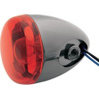 TURN SIGNAL BK NKL W/RED - 8887R-BN