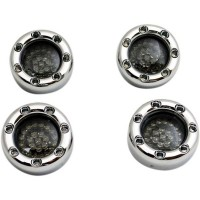 TURN SIGNAL KIT BULLET RINGZ™ LED CHROME/AMBER/WHITE/RED - BTR-KIT-BCM1C