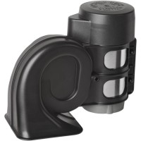 AIR HORN WITH LOW TON 300HZ 12V BLACK - 11690220