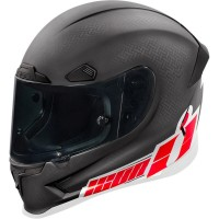 Casque AIRFRAME PRO™ FLASH BANG™ carbone Noir/Blanc/Rouge Icon - Taille du XS au 3XL