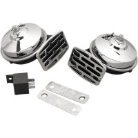 DUAL HORN 12V 107DB CHROME - 11-6139-LBX1