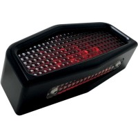TAILLIGHT ASSEMBLY LED CAFE STYLE BLACK - 09-570B