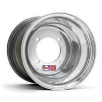 WHEEL RED LABEL 10X12 4/115 6+6 ROLL-FORGED ALUMINUM ROLLED-LIP POLISHED SILVER - Z1000-1013