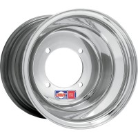 WHEEL RED LABEL 9X8 4/110 3+5 ROLL-FORGED ALUMINUM ROLLED-LIP POLISHED SILVER - 006-08