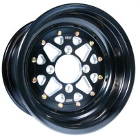 WHEEL SECTOR 12X7 4/156 4+3 ALUMINUM BEADLOCK BLACK - S014-02