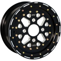 WHEEL SECTOR 14X7 2B+5N 4/115 BEADLOCK BLACK - S007-35