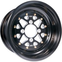 WHEEL SECTOR 14X7 2B+5N 4/115 ROLLED-LIP BLACK - S007-47