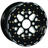 WHEEL SECTOR 14X7 4/110 4+3 ALUMINUM BEADLOCK BLACK - S006-11