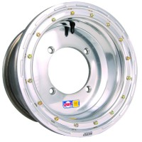 WHEEL ULTIMATE-UT 12X8 4/156 4+4 ALUMINUM ROLLED-LIP POLISHED SILVER - UL12084456P