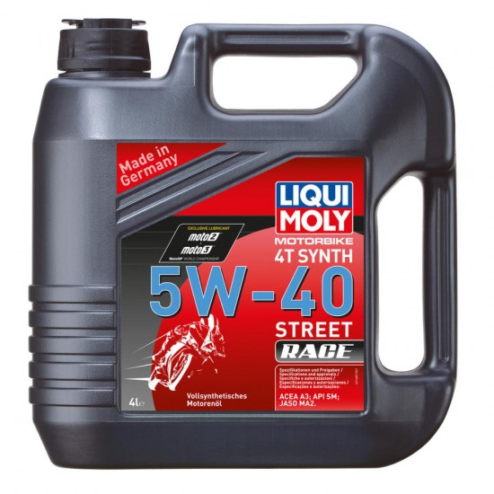 Engine oil motorbike 4t 5w-40 fully synthetic 4 liter - Liqui moly 1685