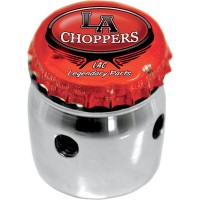BOTTLE CAP TOP-CHOKE KNOB COVER CHROME HD - LA-7608-01