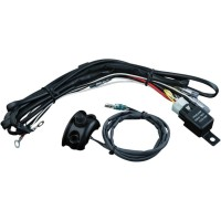 DRIVING LIGHT WIRING & RELAY KIT WITH CONTROL MOUNTED SWITCH BLACK - 2203