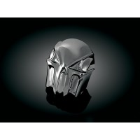 HORN COVER SKULL CHROME BLACK - 7741