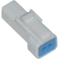 JST MINI SERIES RECEPTACLE CONNECTOR MALE W/SEAL 2-WIRE - NJST-02R