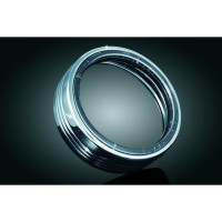 LED HALO HEADLIGHT TRIM RING 7 TOURING CHROME - 7785